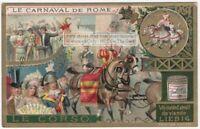 The Rome Carnival  Via Del Corso c1898 Trade Ad Card