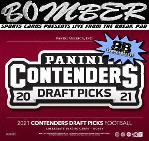 San Francisco 49ers 2021 Panini Contenders Draft Picks Football 4-Box Break 2