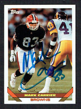 Mark Carrier #355 signed autograph auto 1993 Toops Football Trading Card