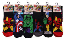 T114 MENS 6prs MARVEL COMICS SUPER HERO NOVELTY SOCKS SUPER MAN HULK CPT AMERICA