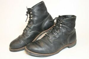 Red Wing Mens 10 D 43 Iron Ranger Leather Lace Up USA Made Ankle Work Boots 8114