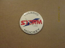 Echl Toledo Strom Vintage Defunct Logo Pinback Button