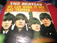 "THE BEATLES 7"" 45 We Can Work It Out / Day Tripper Picture Sleeve Vinyl VG+"