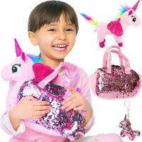 Unicorn Plush Pet 3pcs Set - Fancy Toys Pag Plush - For Girls - Stuffed Unicorn