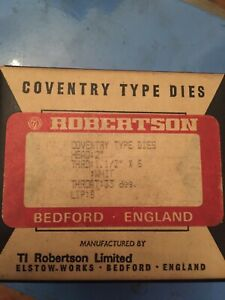 """1 1/2 x 6 whitworth Coventry Die head chasers to fit 2"""" Die Head. Robertson NEW"""
