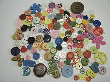 JOB LOT - Assorte PACK OF 100+ Assorted Buttons - Crafts scrapbooking, cards NEW