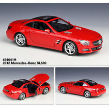 Diecast Metal Model Car Collections 2012 Mercedes-Benz SL 500 SL500 in 1/24 Red