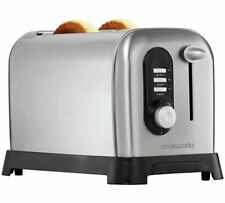 Brand New Cookworks Highlift 2 Slice Toaster - Stainless Steel, 7 Toast Settings