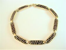 Bracelet REAL SILVER GOLD PLATED WITH GARNET, 17,9 cm