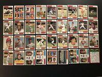 1974 Topps CINCINNATI REDS Complete Set 36 Cards ROSE Griffey BENCH Morgan PEREZ