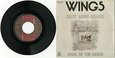 """WINGS"" Silly love songs / Cook of the house (SP 45 tours original français) VG+"