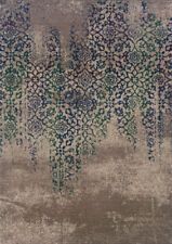 """3x10 Sphinx Antiqued Casual Grey 504D5 Floral Vintage Area Rug - Approx 2'7""""x10'"""