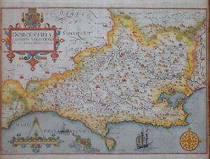 """DORSET - DORCESTRIAE FOR CAMDEN'S """"BRITANNIA"""" 1607-37."""
