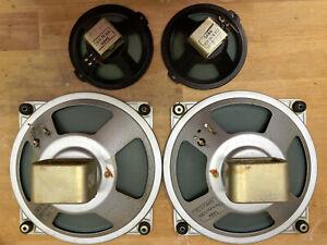 1 Paar SABA Lautsprecher GreenCones 20 cm + 2 Hochtöner - vermessen - TOP