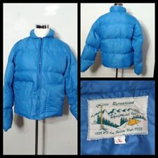 REI Down Coat Men's Lg. Blue Full Zip, Vintage 1970's Inv#S8944
