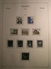 Briefmarken Berlin gestempelt 1986 mit Vordruckblatt