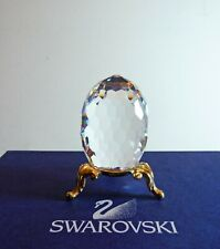 Swarovski Clear Crystal Egg Paperweight With Gold Stand ~ 010055