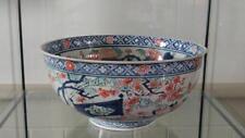 Exquisite 18th C giapponese di esportazione di grandi PORCELLANA Kakiemon Imari Porcellana Ciotola del Punch 1740
