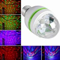 E27 3W Colorful Rotating Stage RGB LED Light Bulb Xmas Ball Party Disco DJ Lamp