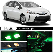 12x Green Interior License Plate LED Lights Package For 2004-2015 Toyota Prius