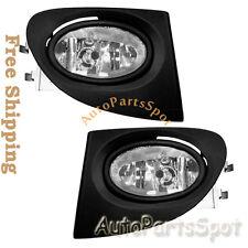 FL7040 Fog Lights Bumper Lamps Light Kit - Clear For 02-05 Honda Civic Si EP3