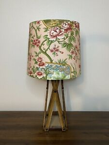 Many Moons Pink Floral & Birds Scene Handmade Lampshade