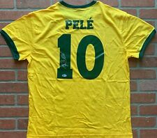 Pele autographed signed authentic jersey Brazil National Team Beckett World Cup