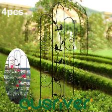 4Pcs 1.5m Garden Trellis Metal Plant Climbing Rack Flower Scrolling Stand Holder