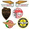 Adesivi Ducati Meccanica sticker vintage Decal auto moto helmet print pvc 6 pz.