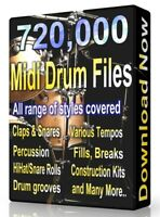 720,000 Drum Midi Pack Collection 2020 Logic, FL Studio, Reason, Ableton Cubase
