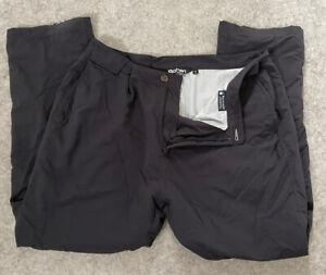 Mens Rohan Dry Requisite Waterproof Barricade Walking Trousers 42 R Charcoal