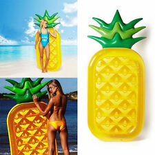 Inflatable Pineapple Pool Float Swimming Raft Lounger Summer Beach Swim Ring TOY