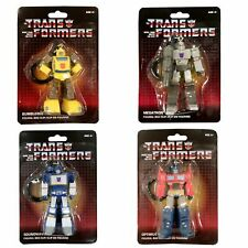Transformers G1 Keychain / Bag Clip - Complete set of 4 MOSC Optimus Soundwave