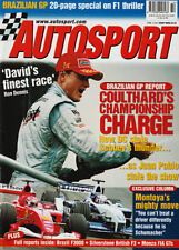AUTOSPORT 5 APR 2001-BRAZILIAN GP, MONZA FIA GT, suhmacher, Coulthard, Lotus.