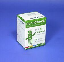 25 Harnsäure-Teststreifen, Messelektroden für ➤ BeneCheck UA (25 Teste + 1 Code)