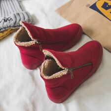 Women Winter Snow Boots Warm Plush Insole Flat Heel Footwears Round Toe with Zip