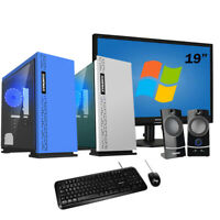 "Pc desktop Completo Amd QuadCore ,Ram 8gb,Ssd 240 Gb,Monitor 19""+ Windows 10"