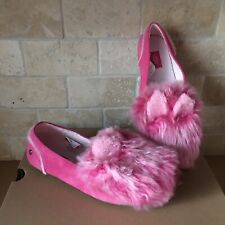 UGG Hailey Pinkypuff Pink Suede Moccasin Slippers Shoes Size 5 Youth = Women 7
