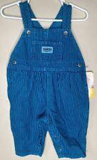Oshkosh Vintage NWT Blue Striped Overalls 6-9 Months