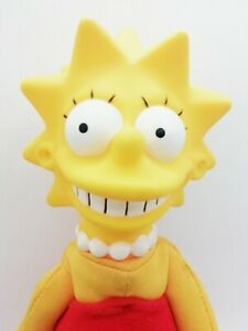 Vintage 1990 Small Lisa Simpson Plush Doll Toy. The Simpsons. Matt Groening.