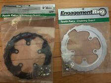 "NOS QBP ""Tooth Fairy"" Chainring Guard 94mm BCD x 42T Silver ONLY -- USA"