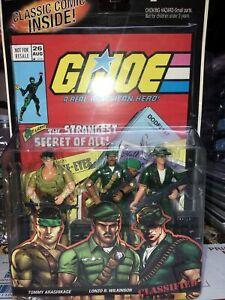 RARE GI Joe Comic 3 Pack CLASSIFIED Snake Eyes Stalker Storm Shadow 2005 🔥