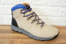Timberland World Mid Hiker Mens Size 10.5 UK Beige Hiking Leather Boots BNWB NEW