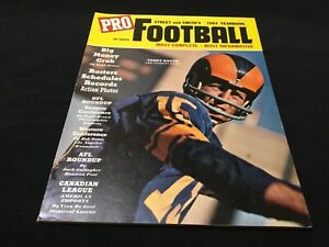 1964 Street and Smith Pro Football Yearbook Guide Terry Baker Rams