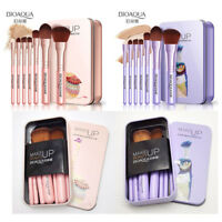 BIOAQUA 7Pcs Makeup Brushes Set Eye Lip Face Foundation Make Up Brush Kit Tools