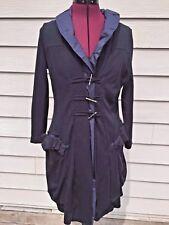 MARITHE FRANCOIS GIRBAUD Blue - Ruffle - Long Coat Jacket - Cotton -Sz 5