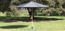 Toledo 3.5 metre market umbrella grey