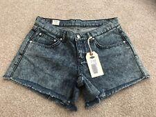 """Damas Brooklyn Supply Co Lavado Ácido Pantalones Cortos De Mezclilla Talla 29"""" Cintura BNWT"""