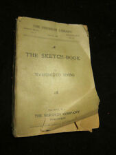 The Sketch Book by Washington Irving The Premium Library June 30 1898 antique