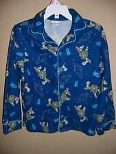 Boys 'Disney Store' Size s 5/6 - Blue Button Up Buzz Lightyear Sleep Top Shirt